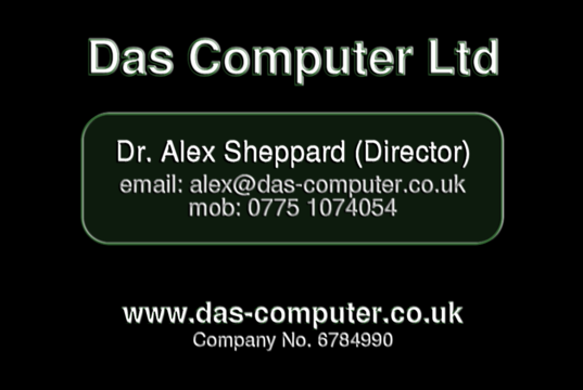 business card + contact details