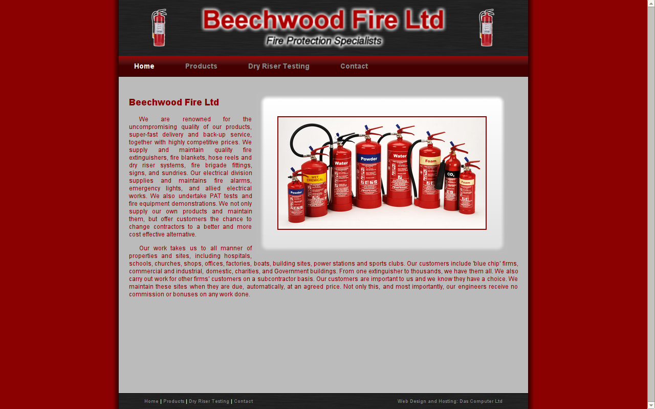 Beechwood Fire Ltd Website
