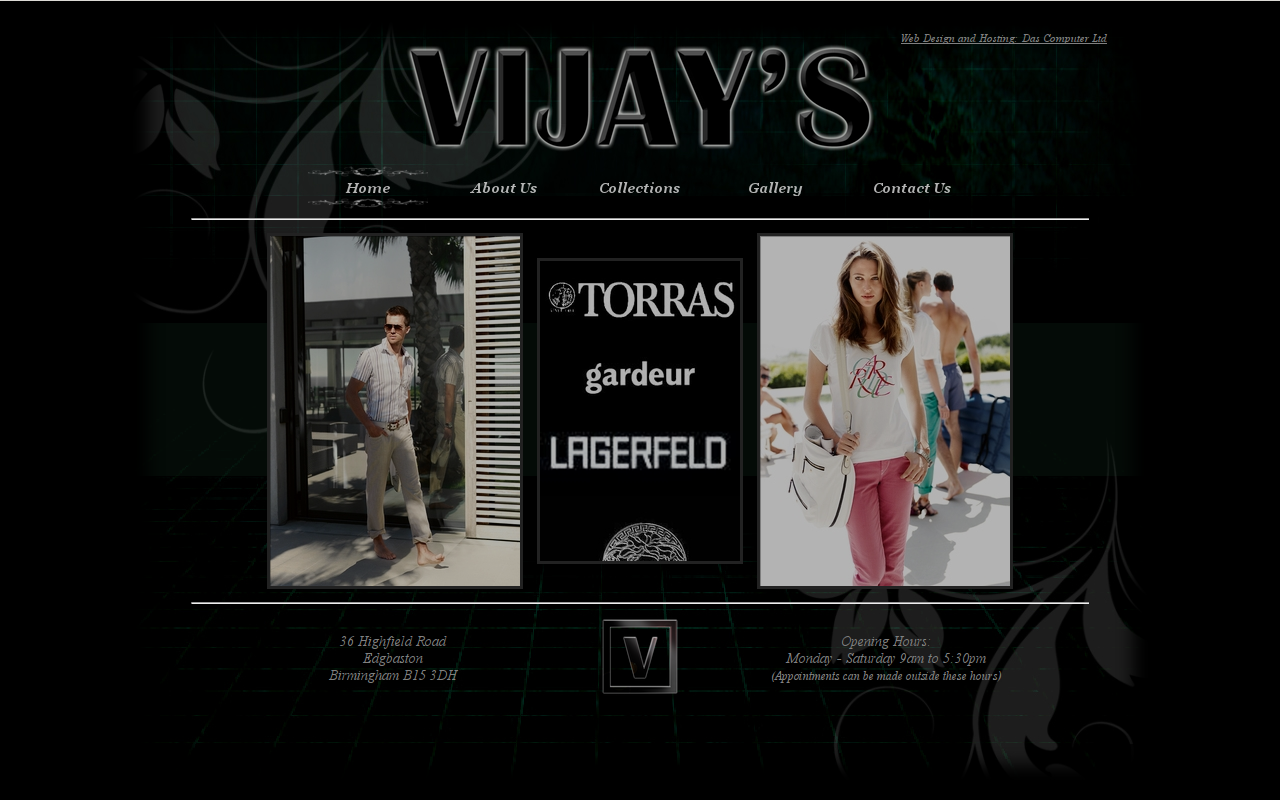 Vijays Clothing homepage
